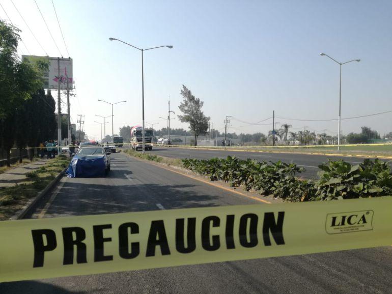 Fallece hombre atropellado sobre carretera Tesistán