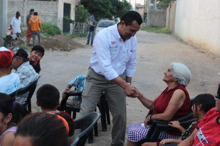 Nicolás Maestro promete trabajar para mejorar la economía de los Tonaltecas