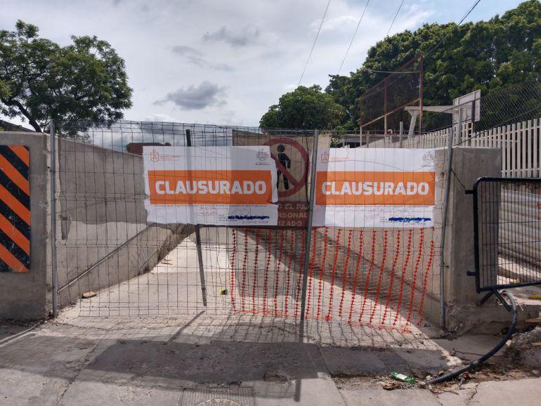 Clausuran obras de L3 por provocar inundaciones en colonia Alcalde Barranquitas