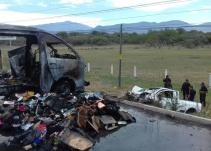 Carambola de camionetas deja tres fallecidos en Zacoalco de Torres