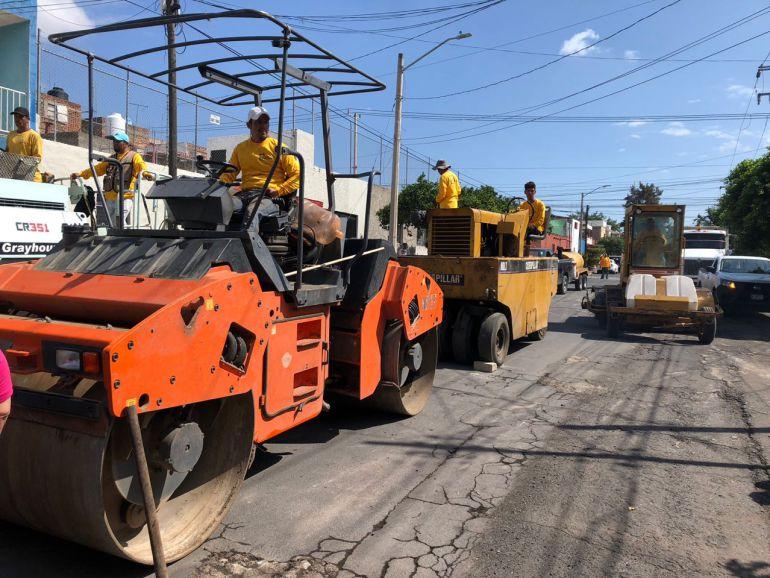 Inician obras de repavimentación de calles de la zona de Medrano