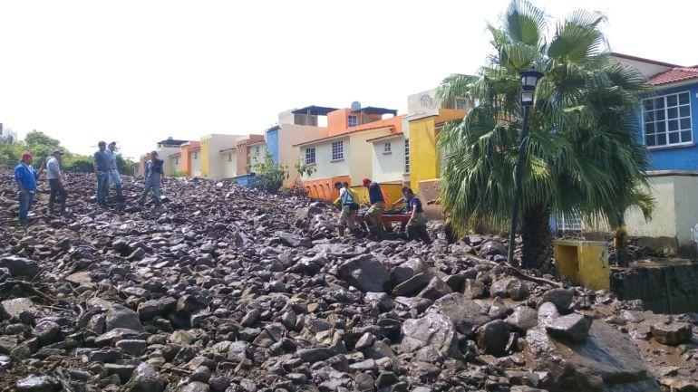 Deslave en Jocotepec afecta 25 viviendas