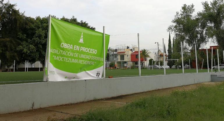 Comienza la rehabilitación de unidad deportiva Residencial Moctezuma