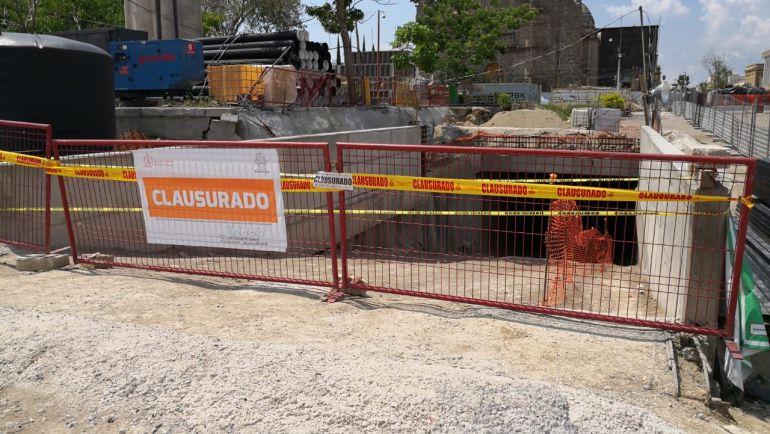 Clausuran obra de la L3 en el Santuario por muerte de trabajador
