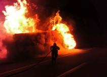 Se incendia pipa en San Juan de los Lagos