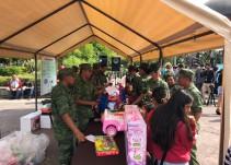 XV Zona Militar canjea juguetes bélicos para reducir violencia