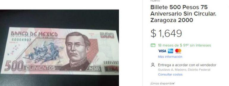 Dan hasta el triple por viejos billetes de 500 pesos