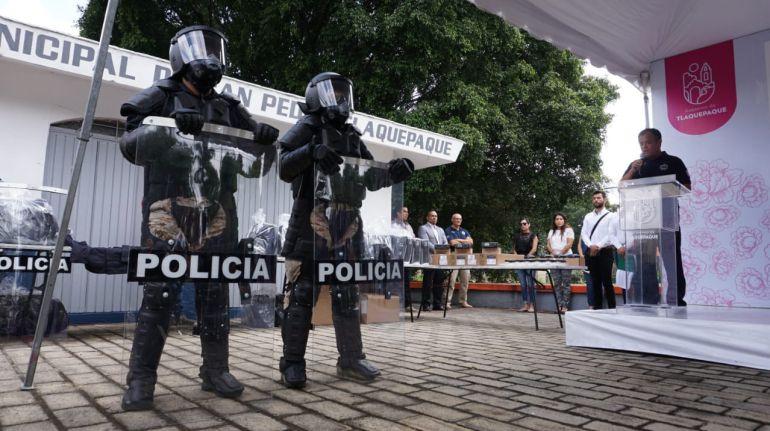 Policías antimotines estrena equipo en Tlaquepaque