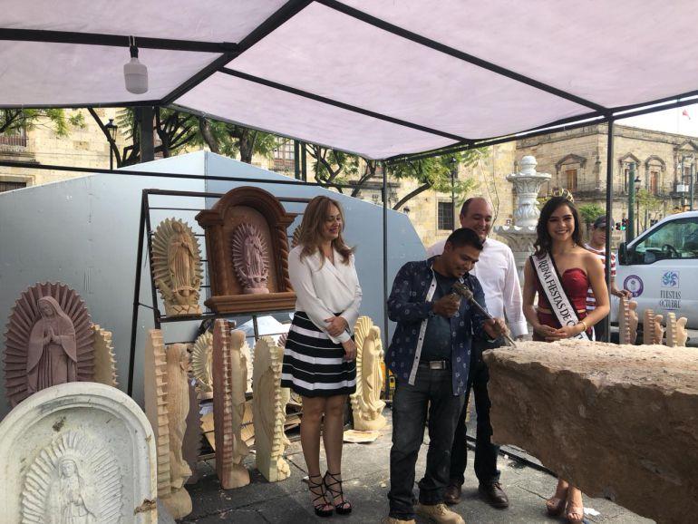 Inauguran Concurso de Labrado de cantera en Guadalajara