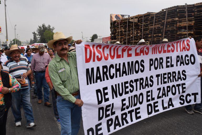 Ejidatarios de El Zapote retoman marchas