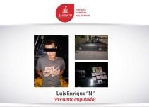 FGJ investiga hombre detenido con un auto recién robado