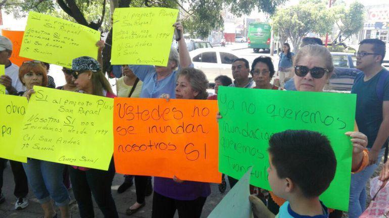 Regresan a manifestarse habitantes del parque San Rafael
