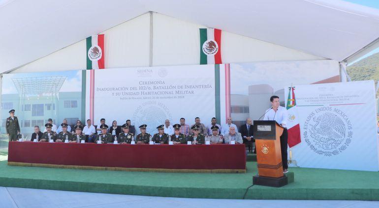 Inauguran Batallón de Infantería en Autlán de Navarro