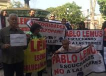 Vecinos de Chapalita se manifiestan contra construcción de torres