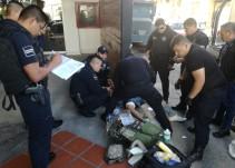 Hombre llega herido a hotel del Centro de Guadalajara