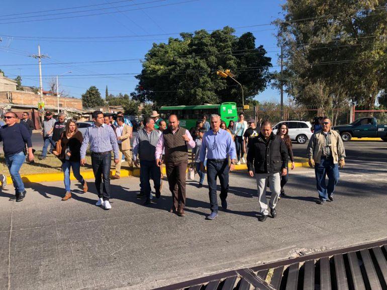 Autoridades tapatías y tonaltecas supervisan el Parque de la Solidaridad