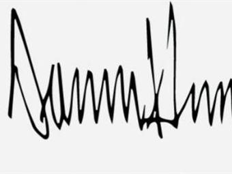 ¿Qué refleja la firma de Donald Trump? | Actualidad ...