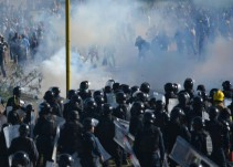 Se denuncia en redes sociales violencia de la Policía Federal en Oaxaca