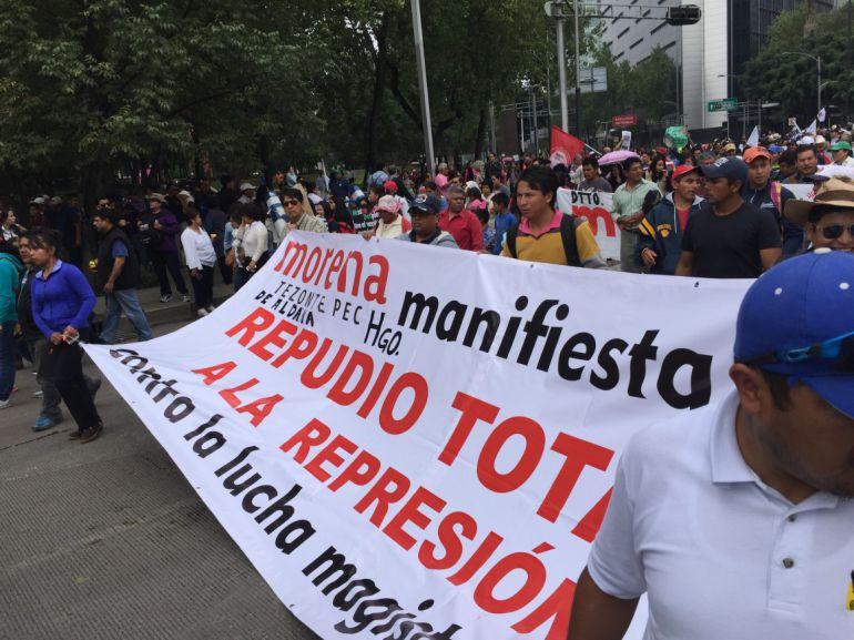 """""""Manifestaciones de la CNTE podrían durar 5 meses más"""": Saulo Chávez"""
