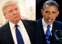 Obama rompe protocolo al no tomarse foto con Trump