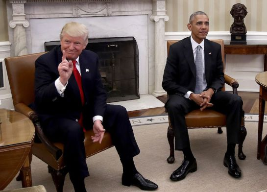 Elecciones EEUU 2016: Obama rompe protocolo al no tomarse foto con Trump