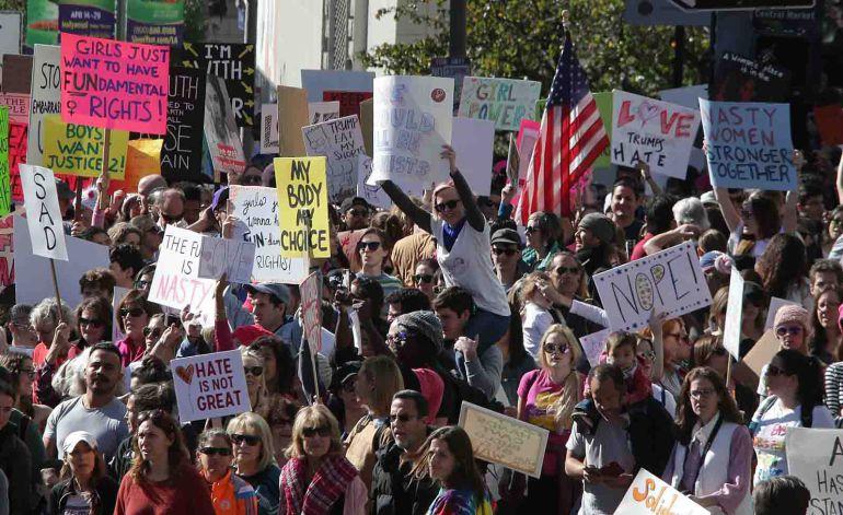 Women's March une a la sociedad civil contra Trump
