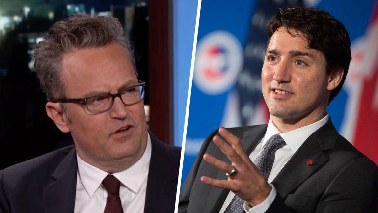 #AsíSopitas: Justin Trudeau reta a una pelea al actor Matthew Perry