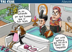 Caricatura por Juan Alarcón publicada en El Heraldo de México