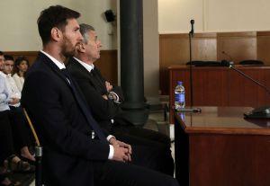 Lionel Messi en comparecencia en Barcelona