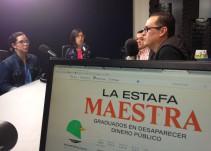 Nayeli Roldán y Miriam Castillo, dos de las autoras de #LaEstafaMaestra en El Weso