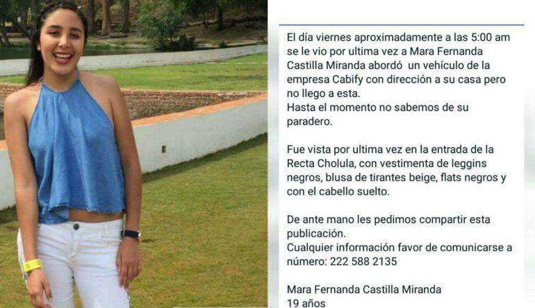 """Exijo que mi hija regrese viva"": Madre de Mara Fernanda"