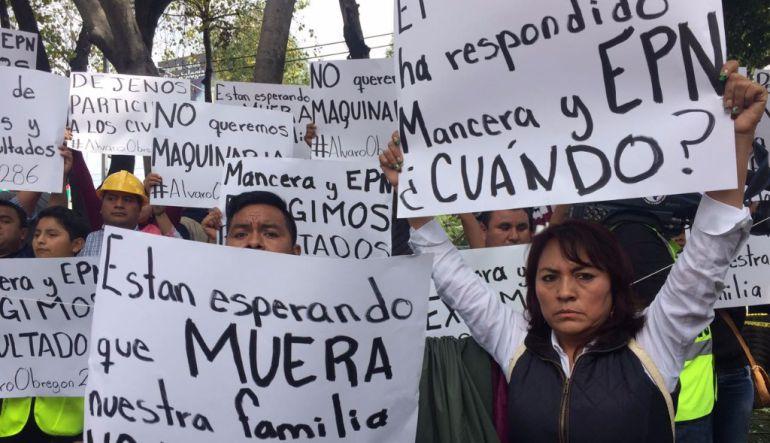 Familiares de desaparecidos se quejan ante derechos humanos