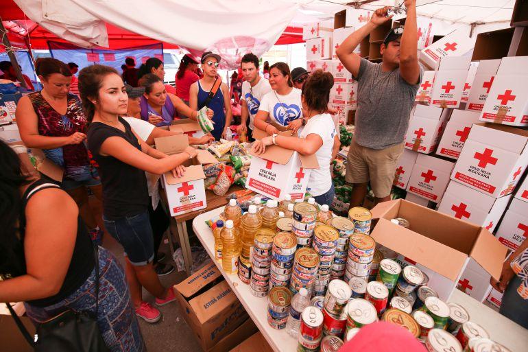 Cruz Roja, donativos, daminificados: Cruz Roja entrega más de 3 mil toneladas de ayuda humanitaria a damnificados