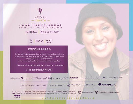 Gran Venta Anual, Fundación Rebecca de Alba