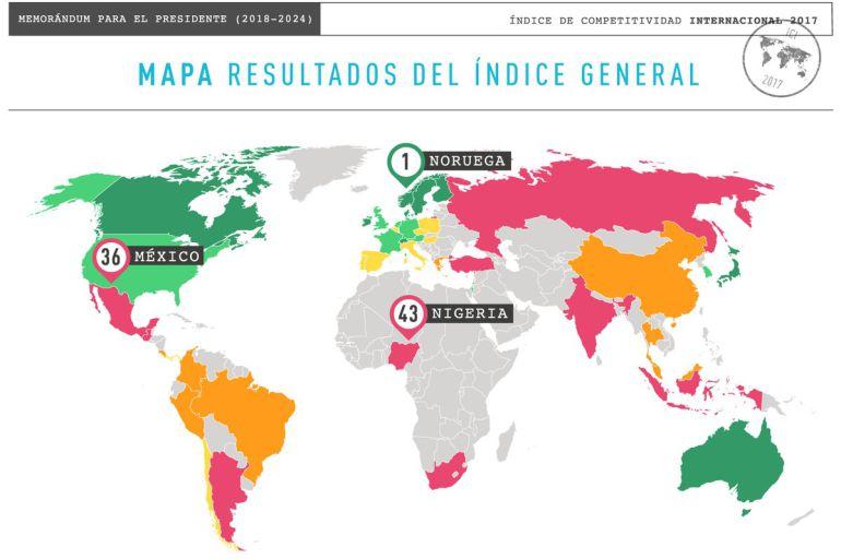 """""""Resultados de México en el Índice de Competitividad Internacional 2017"""""""