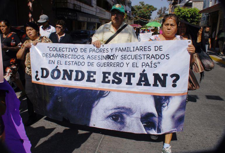desaparecidos, Chilpancingo: No nos vamos a dar por vencidas, hemos expuesto la vida: Colectivo de desaparecidos
