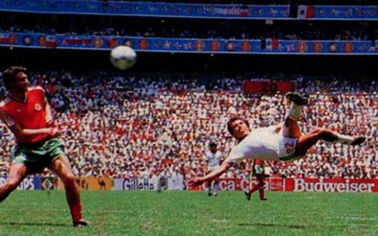 La FIFA determina el gol del mexicano Manuel Negrete como el más hermoso de los mundiales