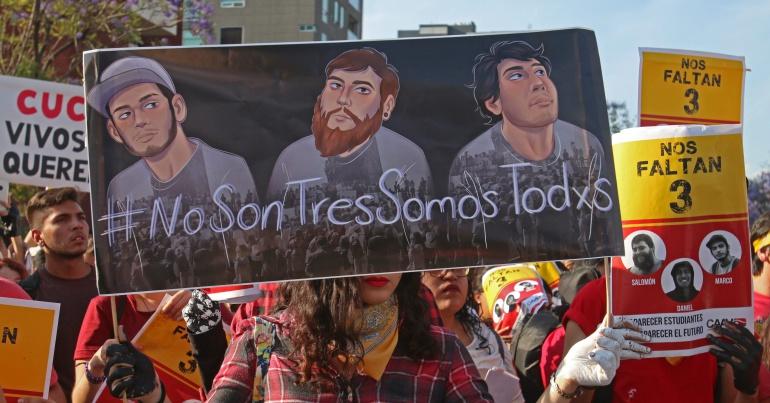 Estudiantes y empresarios exigen paz tras desapariciones forzadas