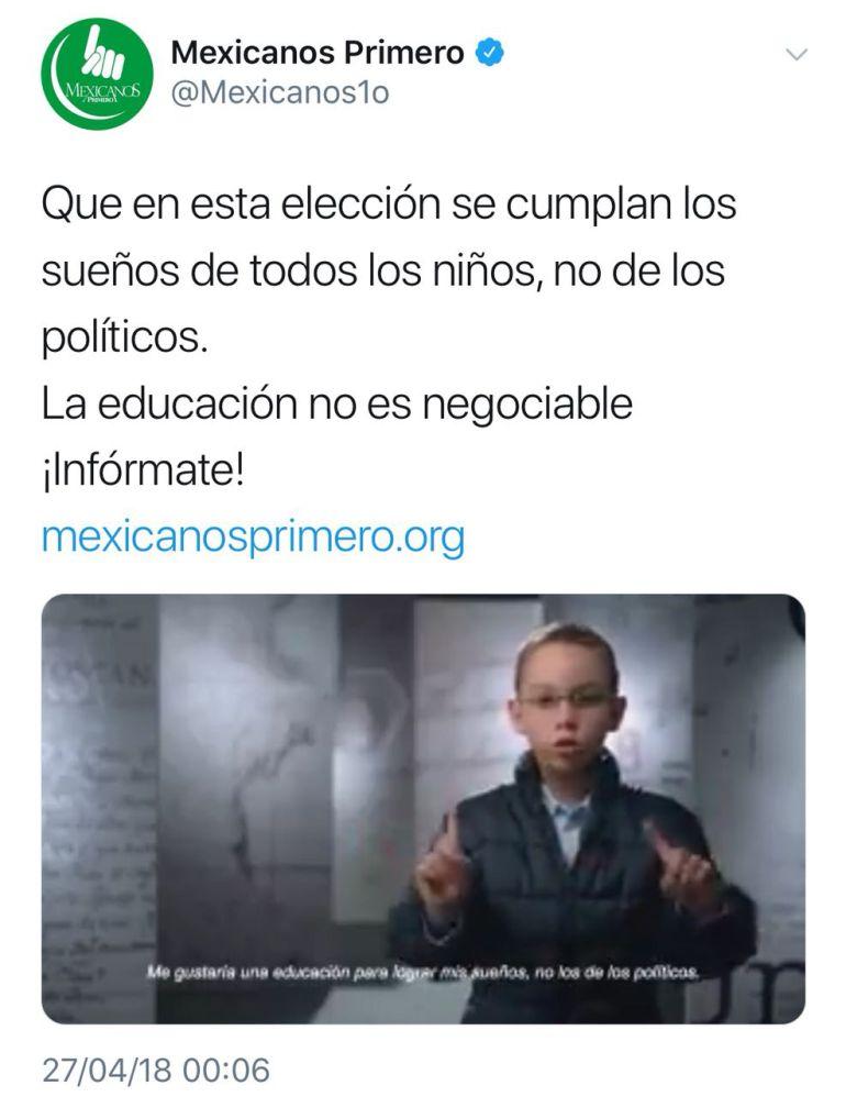 Niños defienden la reforma educativa