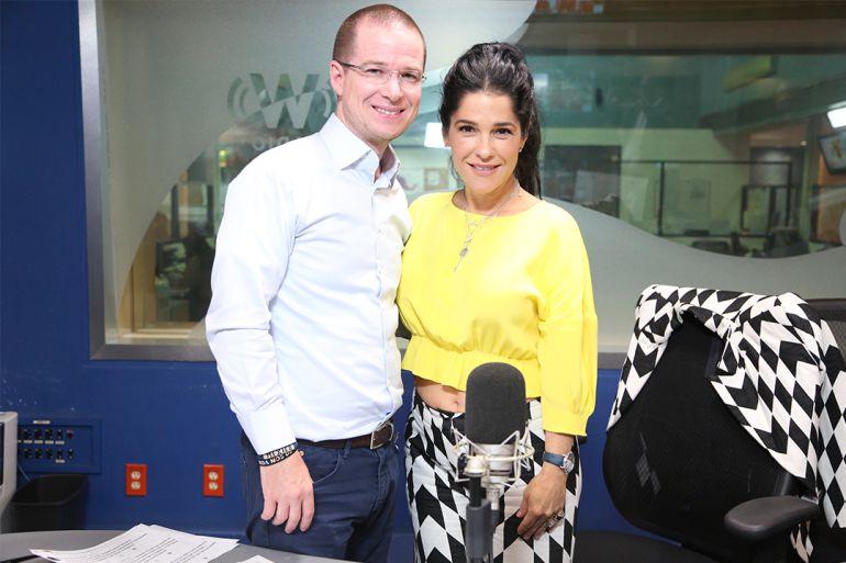 Ricardo Anaya estuvo con Martha Debayle en W