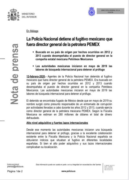 Emilio Lozoya es detenido, confirma la FGR