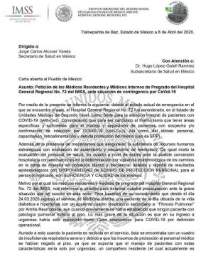 Al menos 27 casos de contagio en un hospital del IMSS en Tlalnepantla