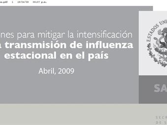 'Acciones para mitigar la intensificación de la transmisión de influenza'