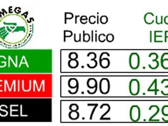 Aumenta gasolina el 10 de julio