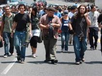 Comienza el arribo de estudiantes a Tlatelolco