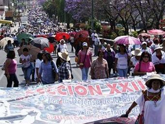 Un millón 300 mil alumnos sin clases en Oaxaca
