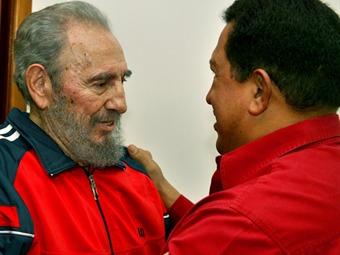 Recibe Castro a Chávez en Cuba