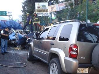 Registran accidente en la carretera México-Cuernavaca
