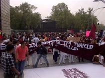 Marchan estudiantes del IPN