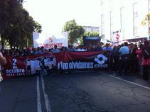 Así se vivió la marcha a 47 años de la masacre de Tlatelolco